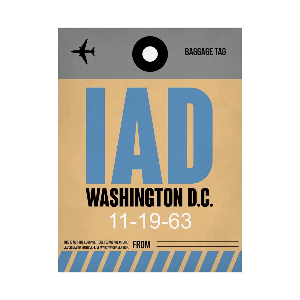 NaxArt | IAD Washington Poster