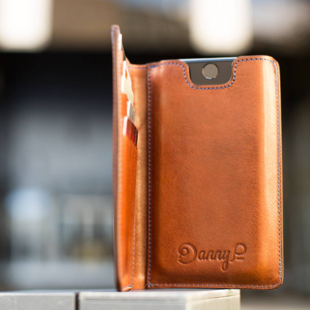 Dark Brown Leather iPhone 6 Wallet Case | Danny P