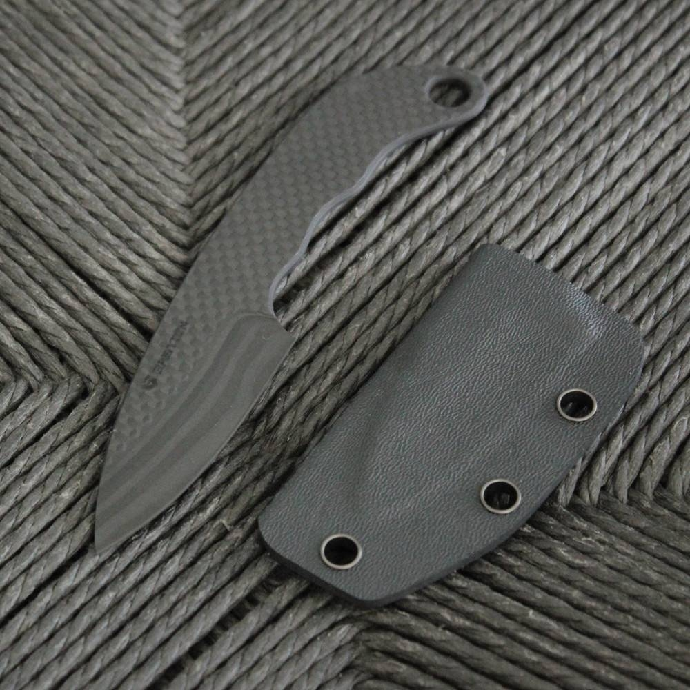 Carbon Fiber Neck Knife Curved Handle | Bastion