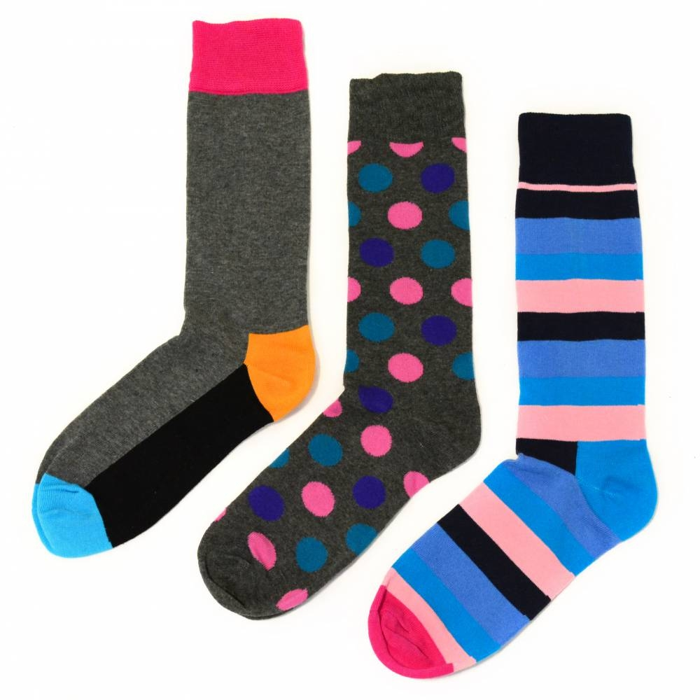 Socks | Color Block & Polk Dot | Happy Socks