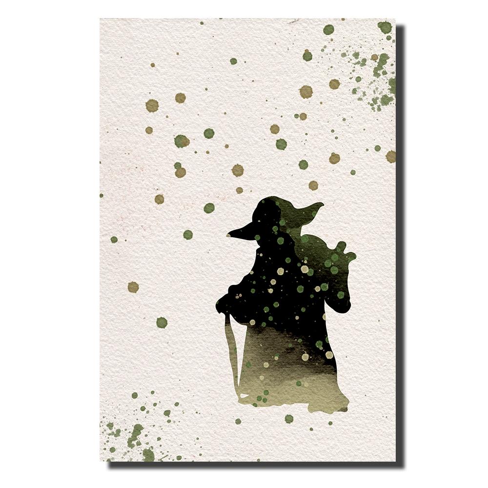 Yoda Watercolor   Power Cosmic