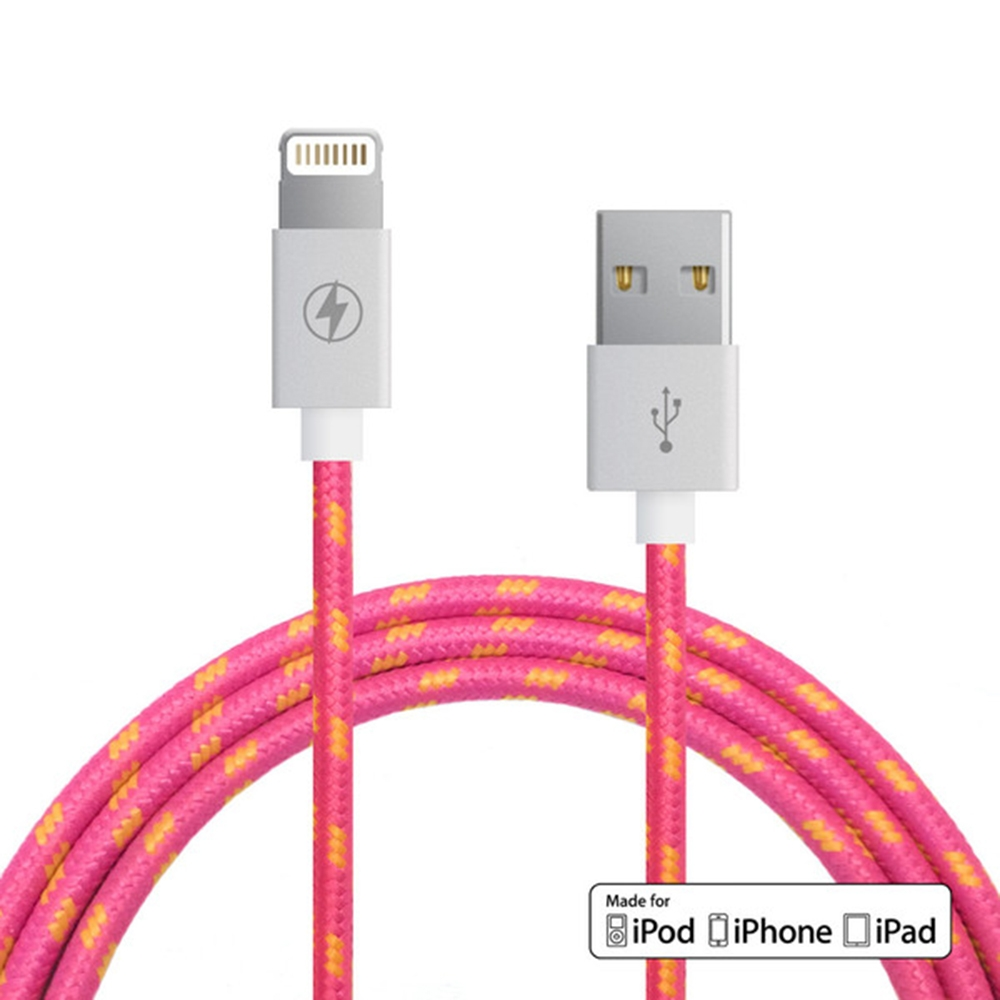 Pink Lemonade Lightning Cable | Charge Cords