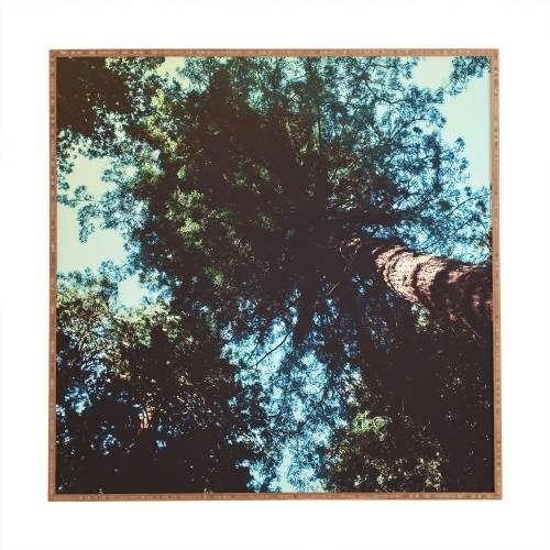 Leah Flores Treetops Framed Wall Art | Deny Designs