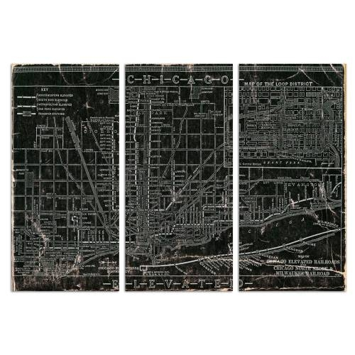Chicago Railroad Triptych | Canvas Art