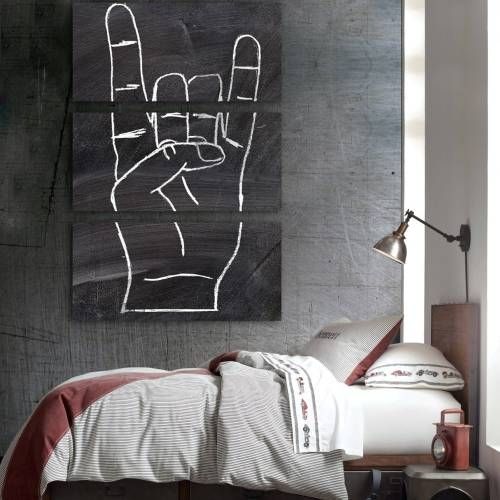 Rock On Triptych   Canvas Art   Oliver Gal