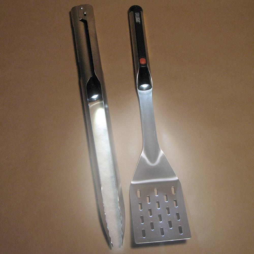 Grillight 2 Piece BBQ Tool Set | Spatula & Tongs