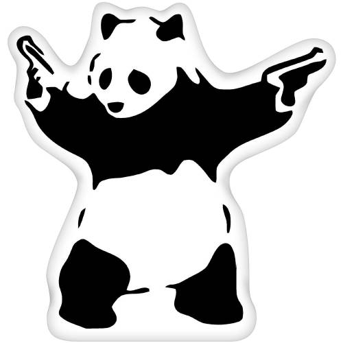 Panda With Guns | Banksy Art | iLeesh