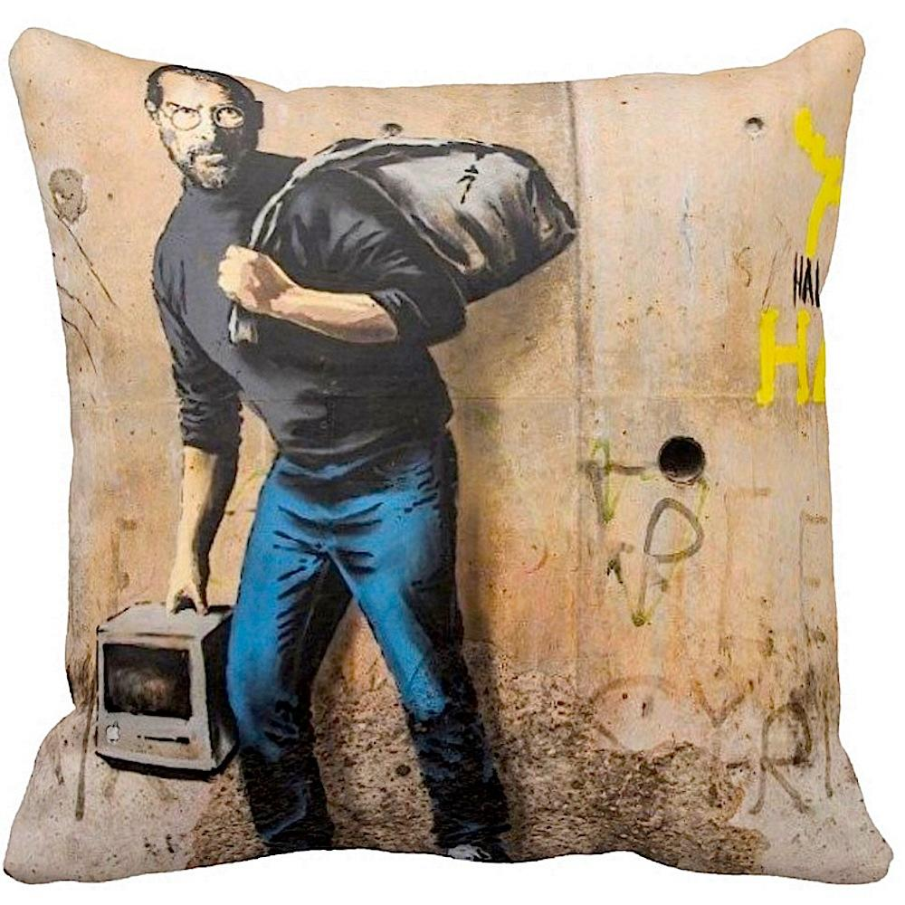 Son Of A Migrant From Syria | Banksy | Pillow | iLeesh