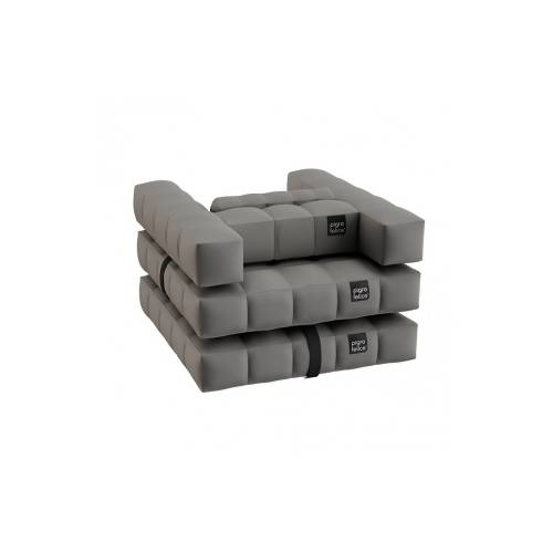 Armchair / Single Lounger Set | Stone Gray | Pigro Felice