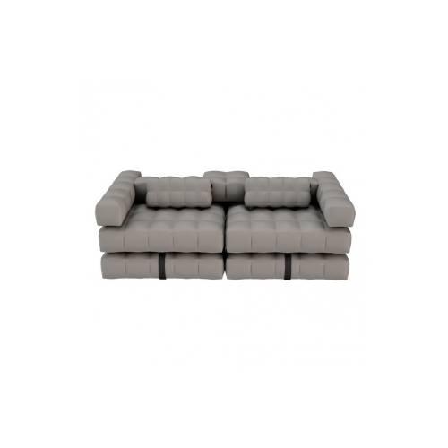 Sofa / Double Lounger Set   Stone Grey   Pigro Felice