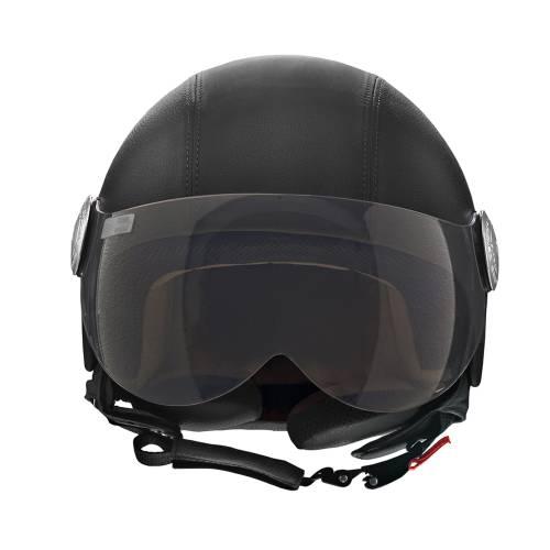 Basic Leather Helmet | Black