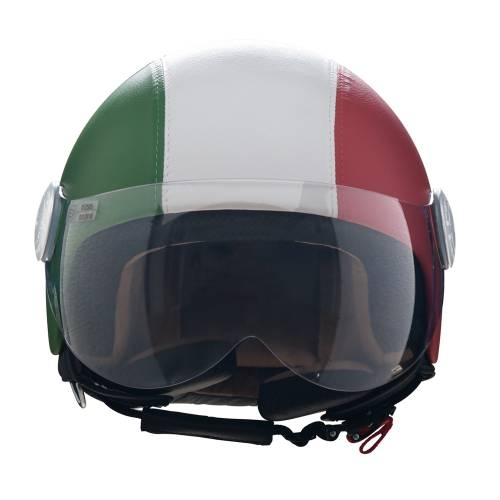 Leather Helmet | Italian Flag