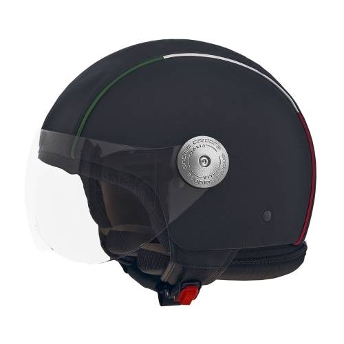 Black Leather Helmet | Italian Border