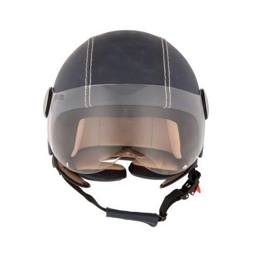 Leather Helmet   Vintage Ocean Blue