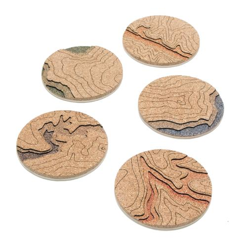 Topo Coasters | Set of 4 | Death Valley | Tom Will Make