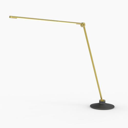 Thin T Desk Lamp | Brass