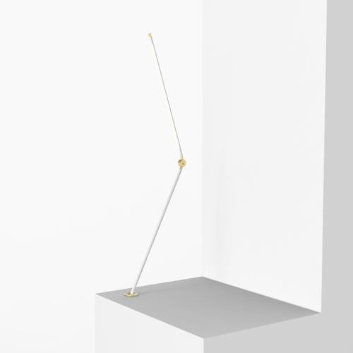 Thin T Desk Lamp   White   Juniper Design