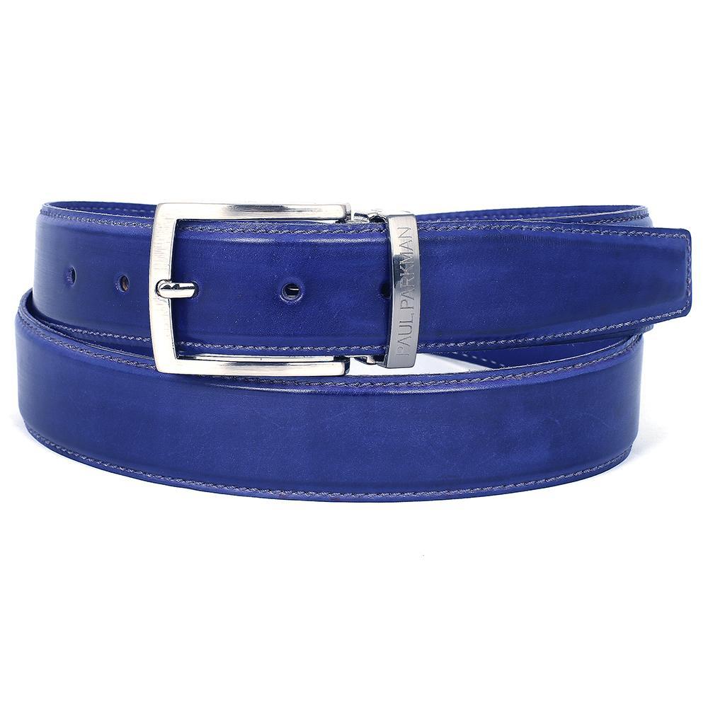 Men's Leather Belt  Cobalt   Blue