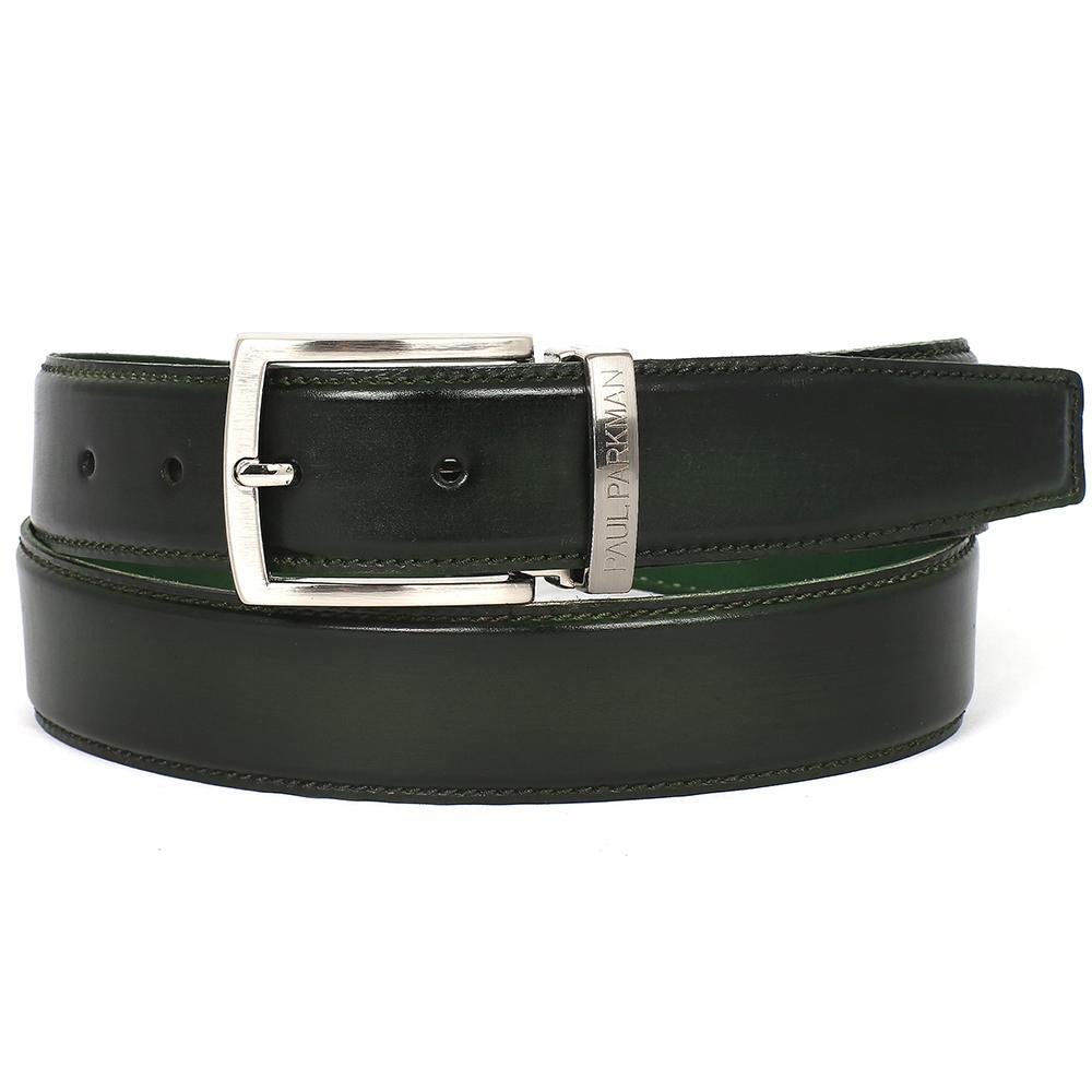 Men's Leather Belt | Dark Green