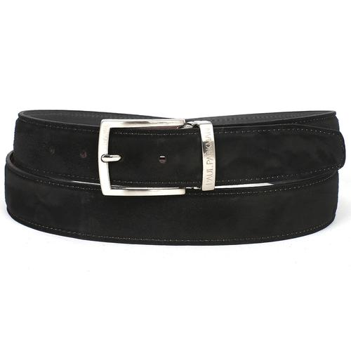 Men's Black Suede Belt | Black