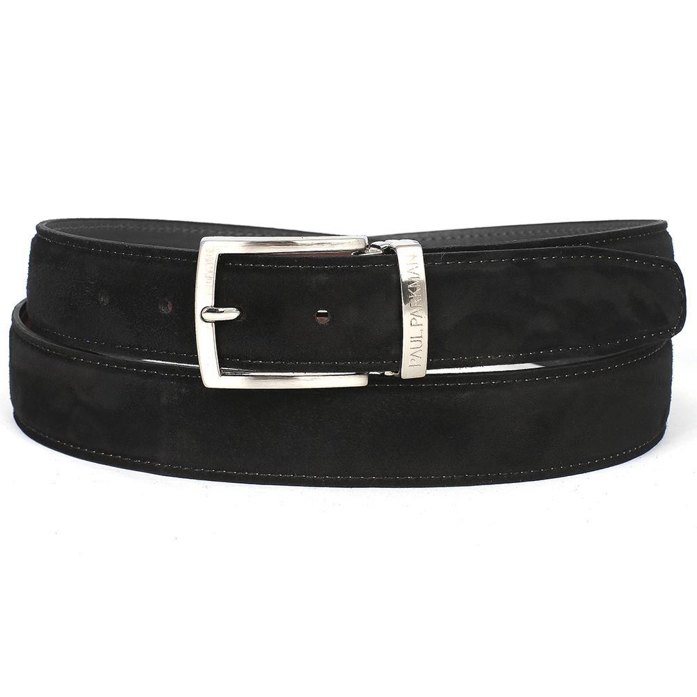 Men's Black Suede Belt   Black