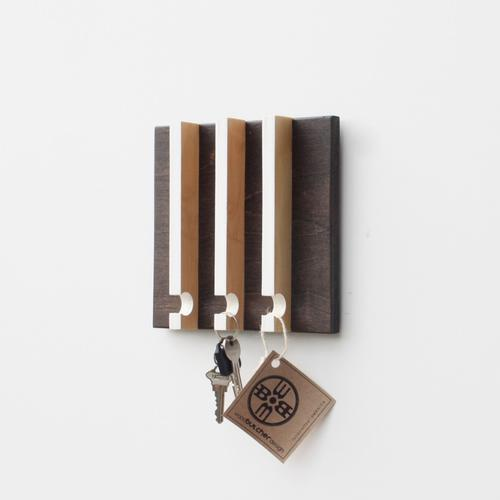 Linear Modern Key Rack | 3 Hooks | Wood Butcher Designs