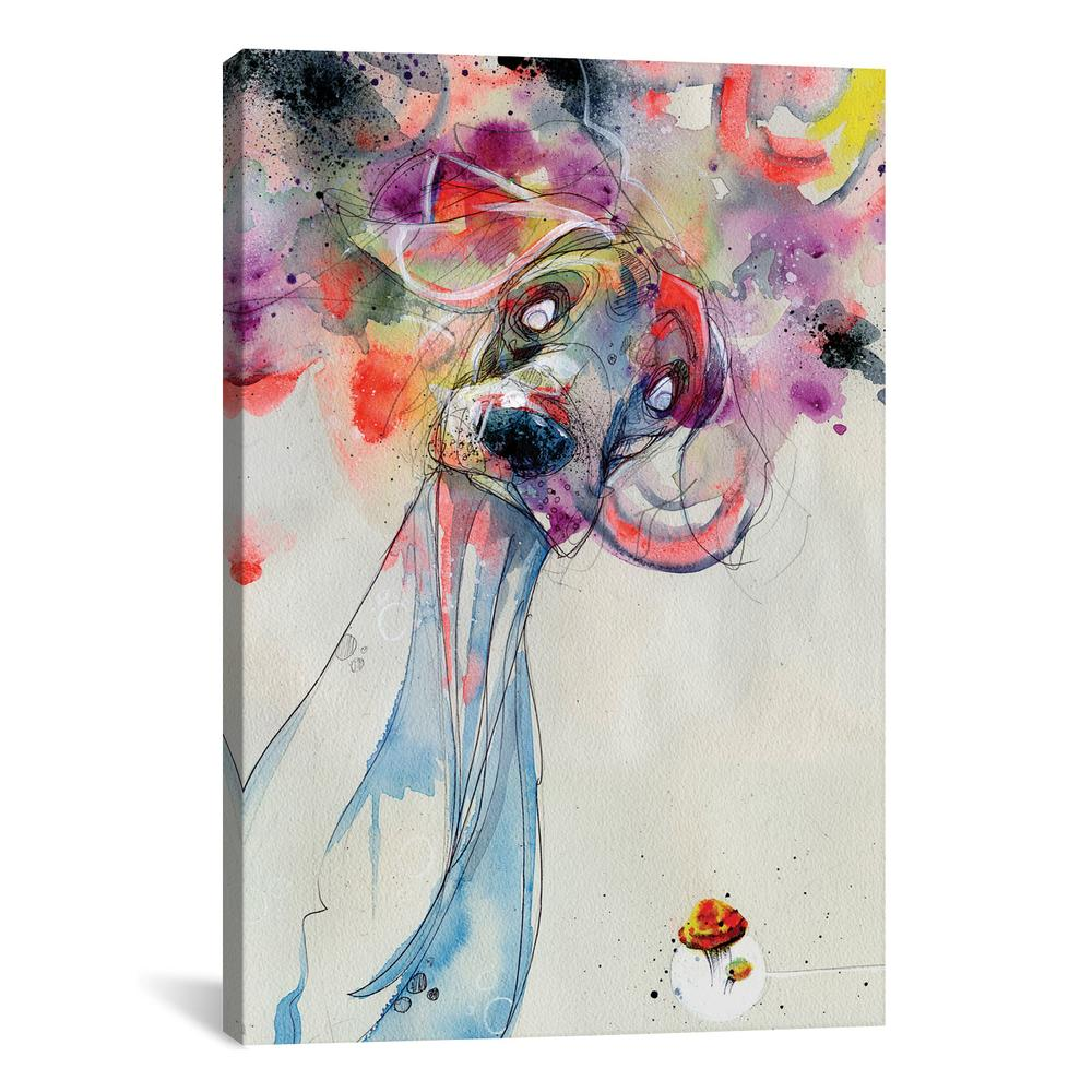 Color Outside Your Lines by Black Ink Art Canvas Print