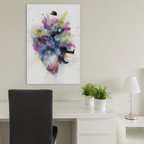 Ego Death by Black Ink Art Canvas Print