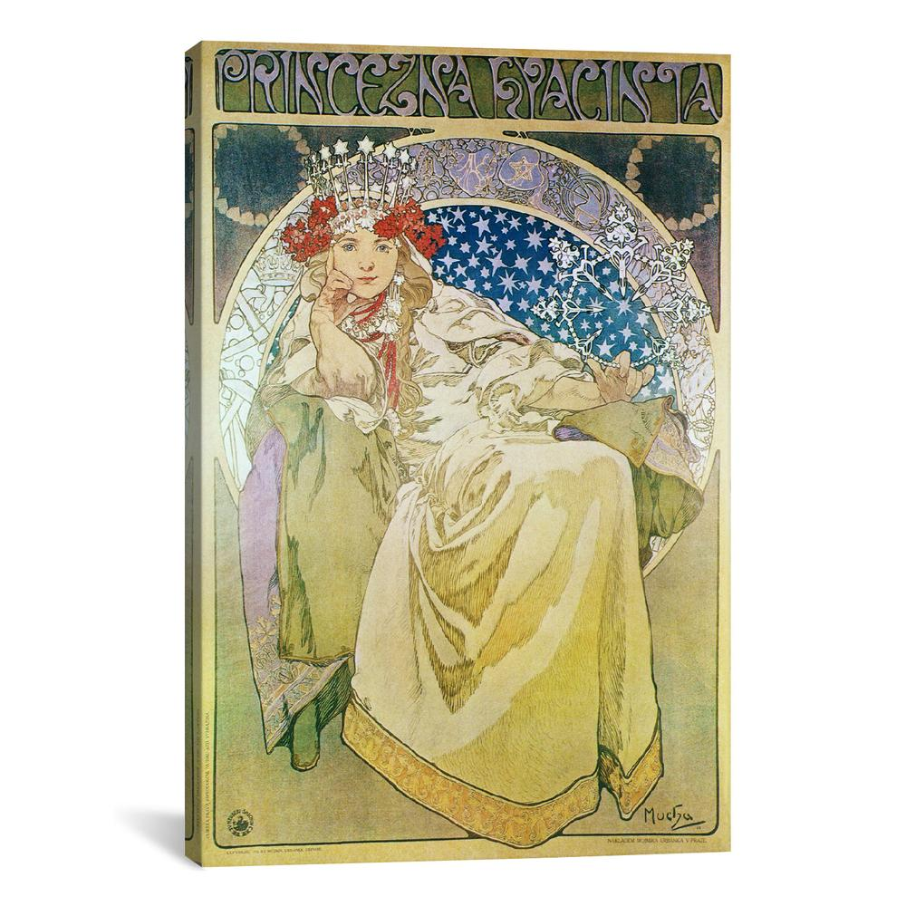 Princess Hyacinth (1911) by Alphonse Mucha Canvas Print