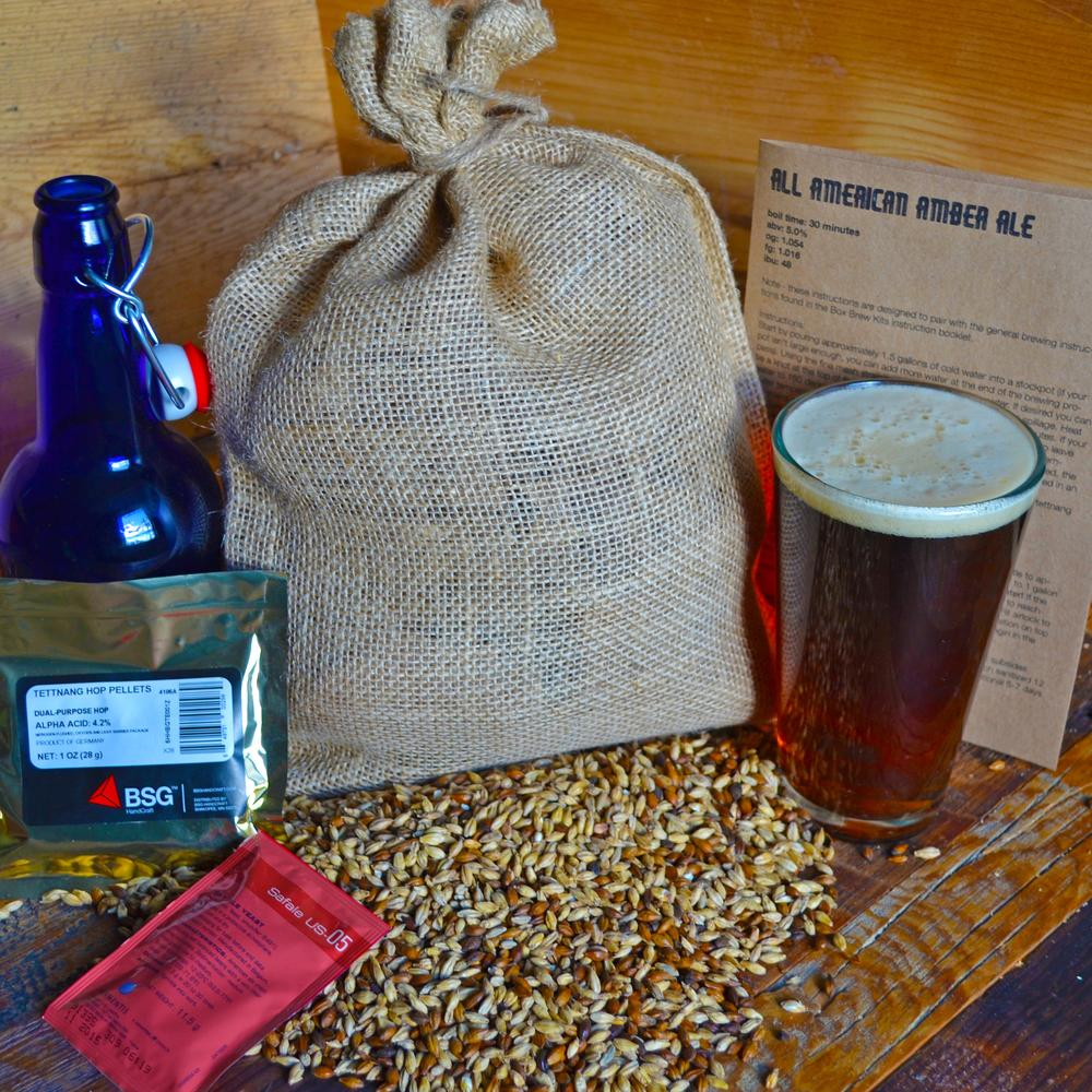 Beer Brewing Recipe Pack   Amber Ale   Box Brew Kits