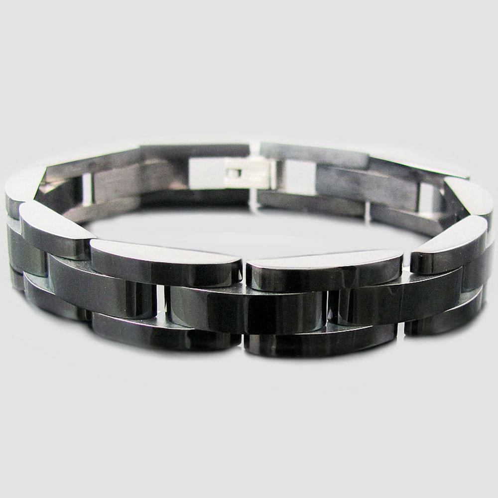 stainless steel semi circle link bracelet blackjack jewelry