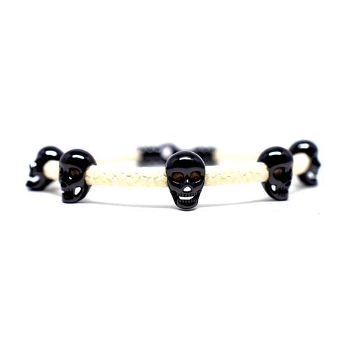 Bracelet | Multi Skull | White/Black
