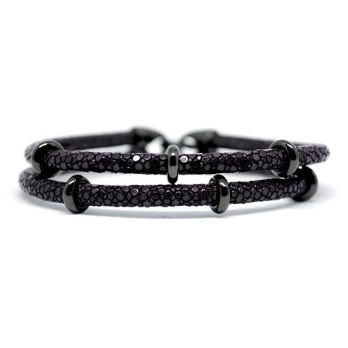 Bracelet | 2x Sting | Purple/Black