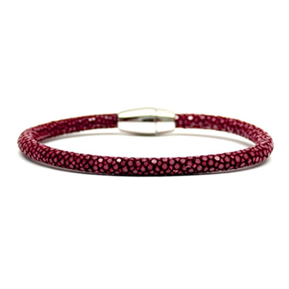 Single Stingray Bracelet   Red Wine   Double Bone