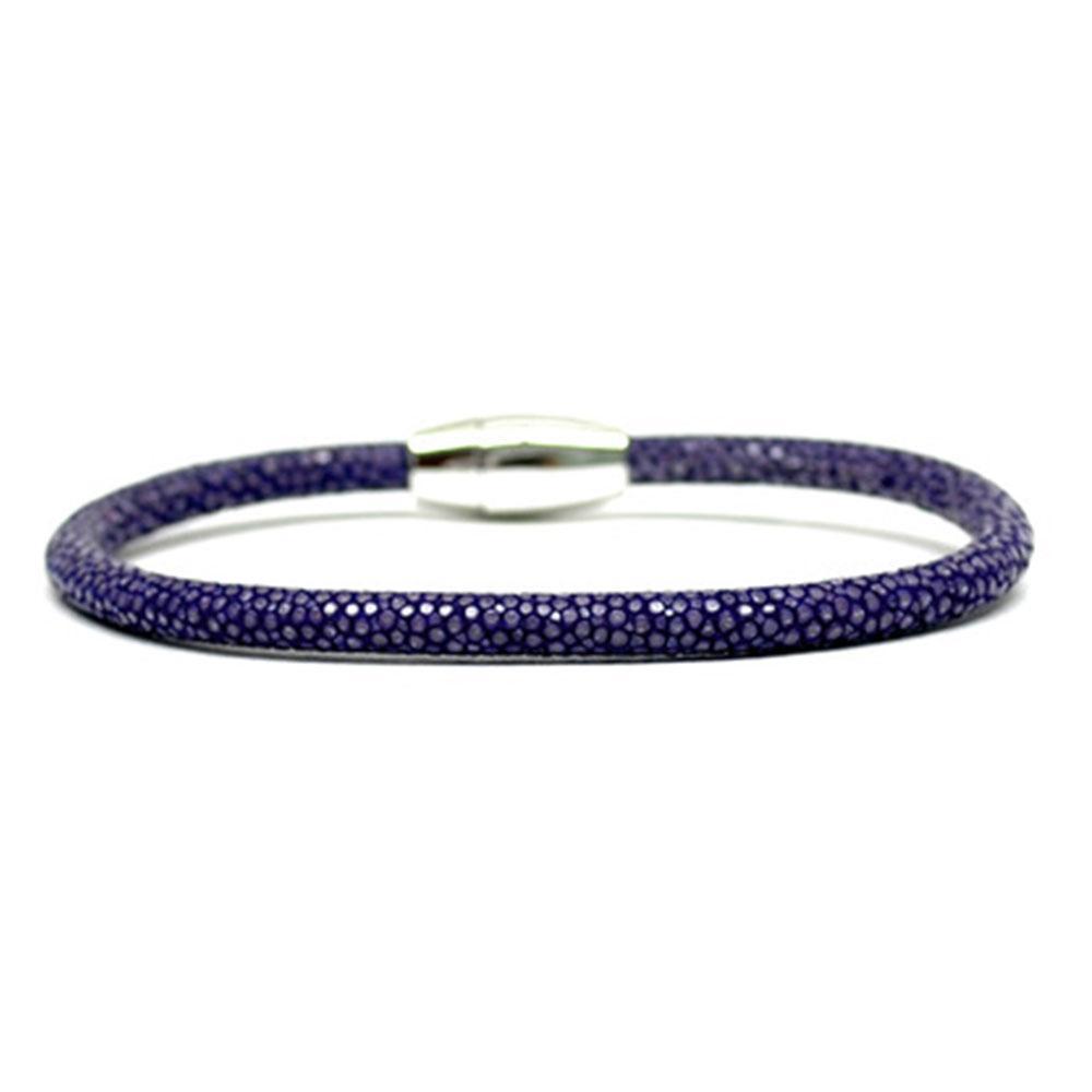Single Stingray Bracelet   Purple   Double Bone