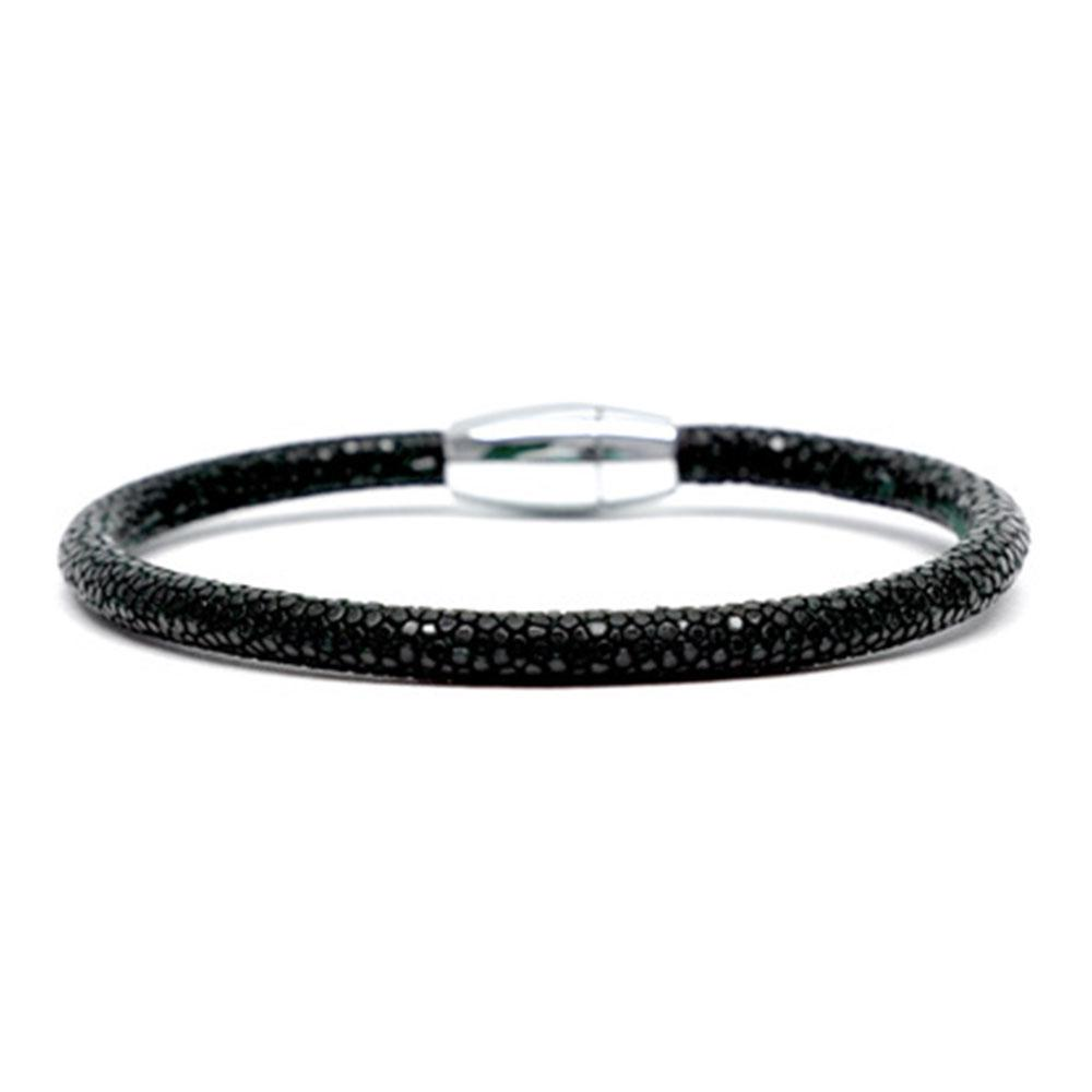Single Stingray Bracelet | Black | Double Bone