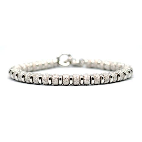 Bracelet   Multi Beads   White Gold