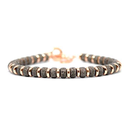 Bracelet | Multi Beads | Black/Rose Gold