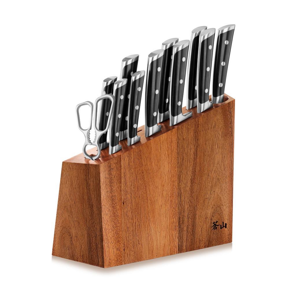 S Series   12-Piece Set   Acacia Wood Block   Cangshan
