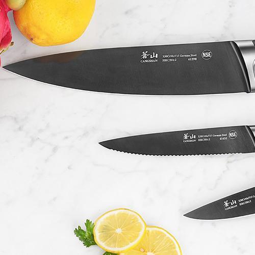 K Series   Set of 3 Knives   Titanium Coating   Cangshan