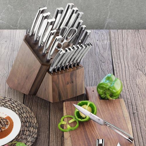 N1 Series 22-Piece Set | Walnut Wood Block | Cangshan