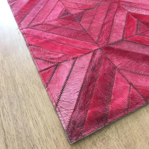 Handmade Leather Pink | Brown Rug | Leather Rugs