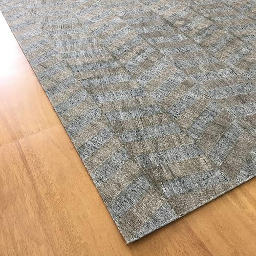 Handmade Jacquard Gray | Brown Rug | Leather Rugs