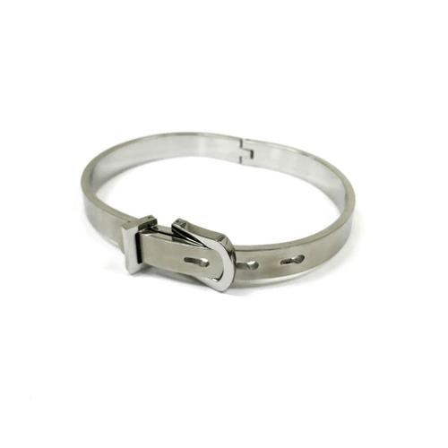 Buckle Bangle | Silver