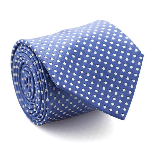 Necktie | Blue with White Polka Dots