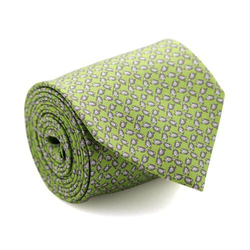 Necktie | Green with Grey Sunglasses Pattern