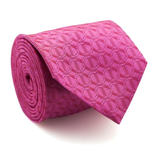 Necktie | Hot Pink with Icon Pattern