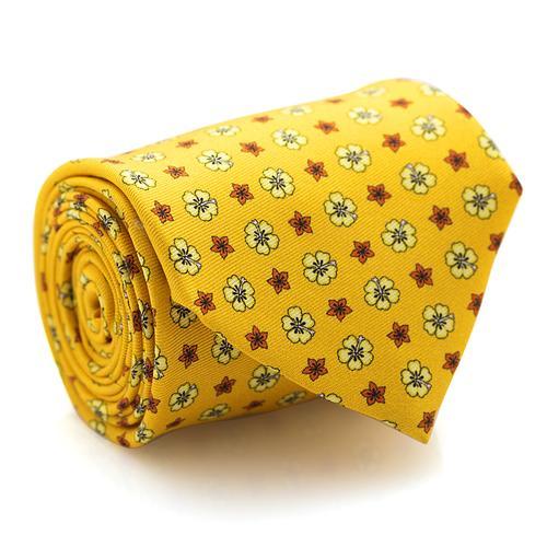 Necktie |  Mini Flowers Pattern on Yellow