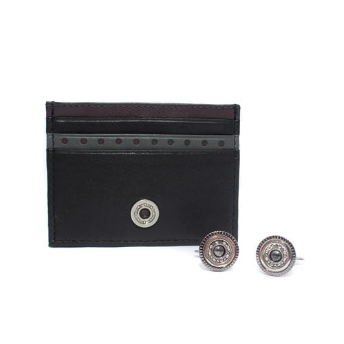 Card Holder / Cufflinks Gift Set | Wheel Bearings
