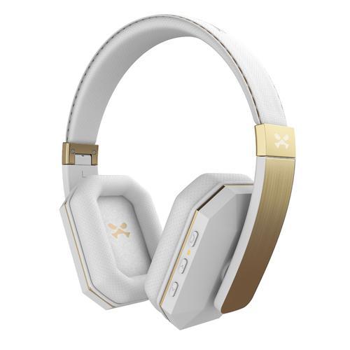 soDrop 2.0 Wireless Bluetooth Headphones   White   Gold